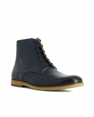 Neosens S086 RESTORED SKIN MIDNIGHT / BRANCELLO Ankle Boots Man Blue Laces