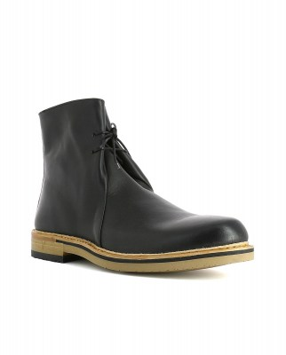Neosens S095 RESTORED SKIN EBONY / ARIS Ankle Boots Man Black Laces