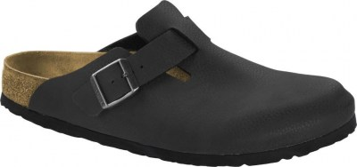 Birkenstock 1014331 Boston SFB desert soil black, Birko Flor Nero