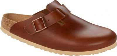 Birkenstock 1015541 Boston antique pull cognac, Leather Marrone