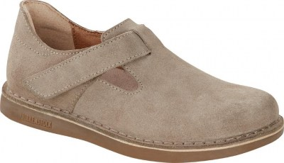 Birkenstock 1016522 London Kids taupe, Suede Leather Beige