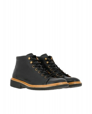 El Naturalista NG32 SOFT GRAIN BLACK / YUGEN Stivaletto Uomo Nero Pizzi