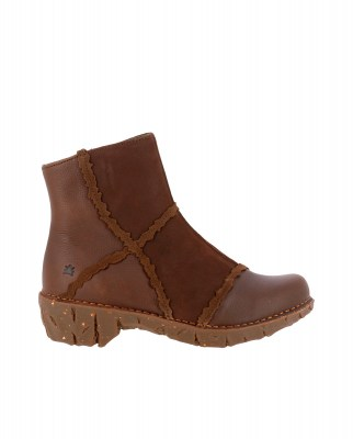 El Naturalista NG59 MIX LEATHER BROWN / YGGDRASIL Stivaletto Donna Marrone A Zip