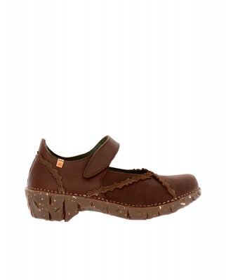 El Naturalista NG60 MIX LEATHER BROWN / YGGDRASIL Scarpa Donna Marrone Velcro