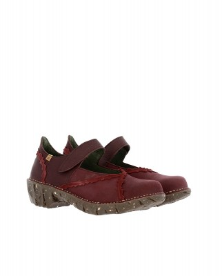 El Naturalista NG60 MIX LEATHER RIOJA / YGGDRASIL Scarpa Donna Rosso Velcro