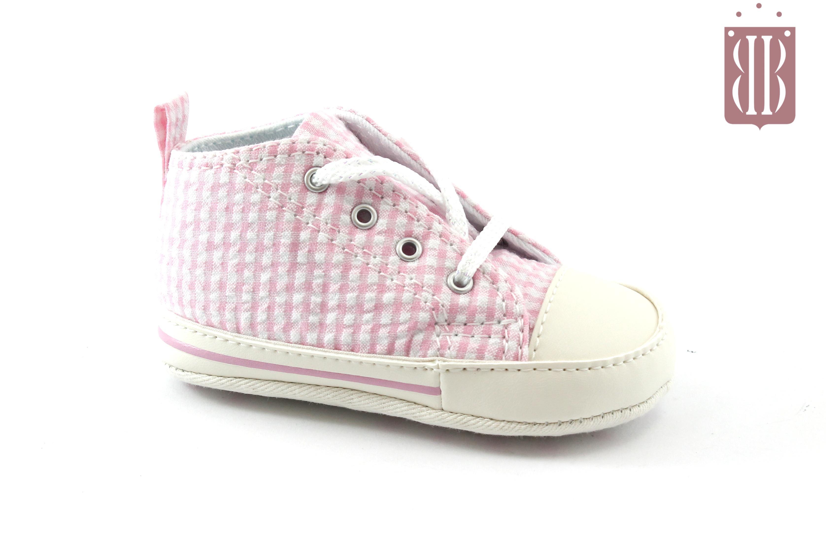 All Mid Pink Lacci Bianco Scarpe Converse Bambina 861018c