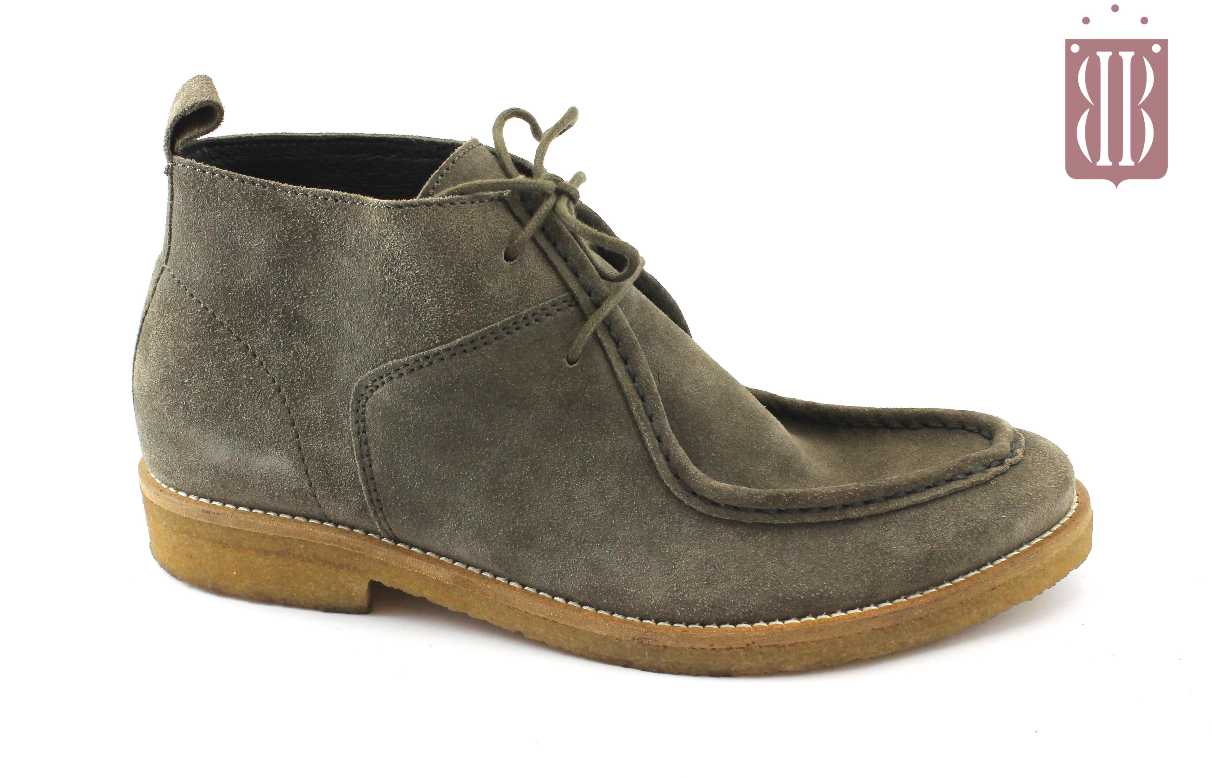 53e26b617be1ce CAFè NOIR NRF603 TAUPE grigio scarpe uomo mid tipo clarks lacci