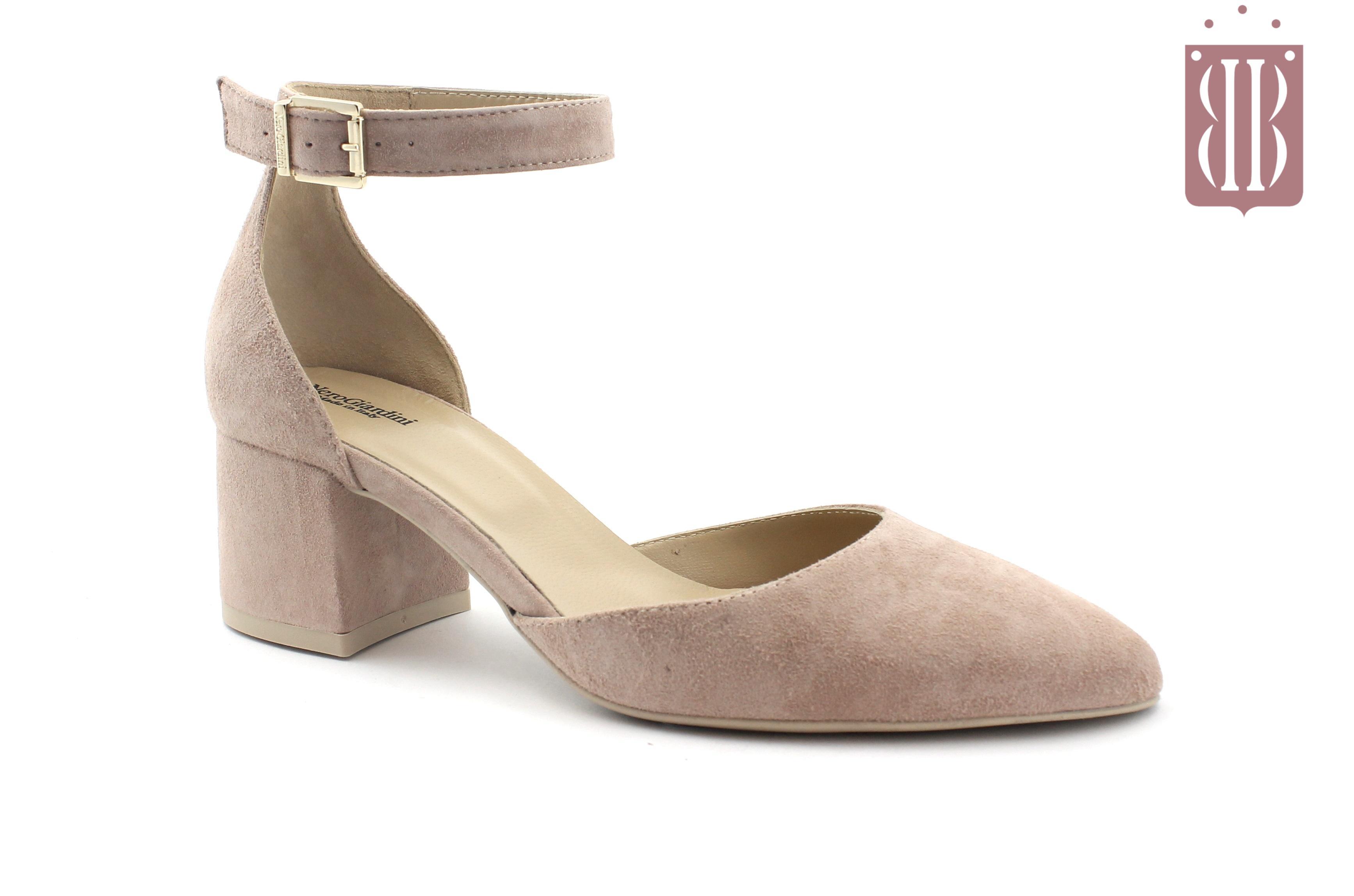 sneakers for cheap 421cb 87532 NERO GIARDINI 7991 phard rosa cipria scarpe donna decolletè tacco punta  cinturino