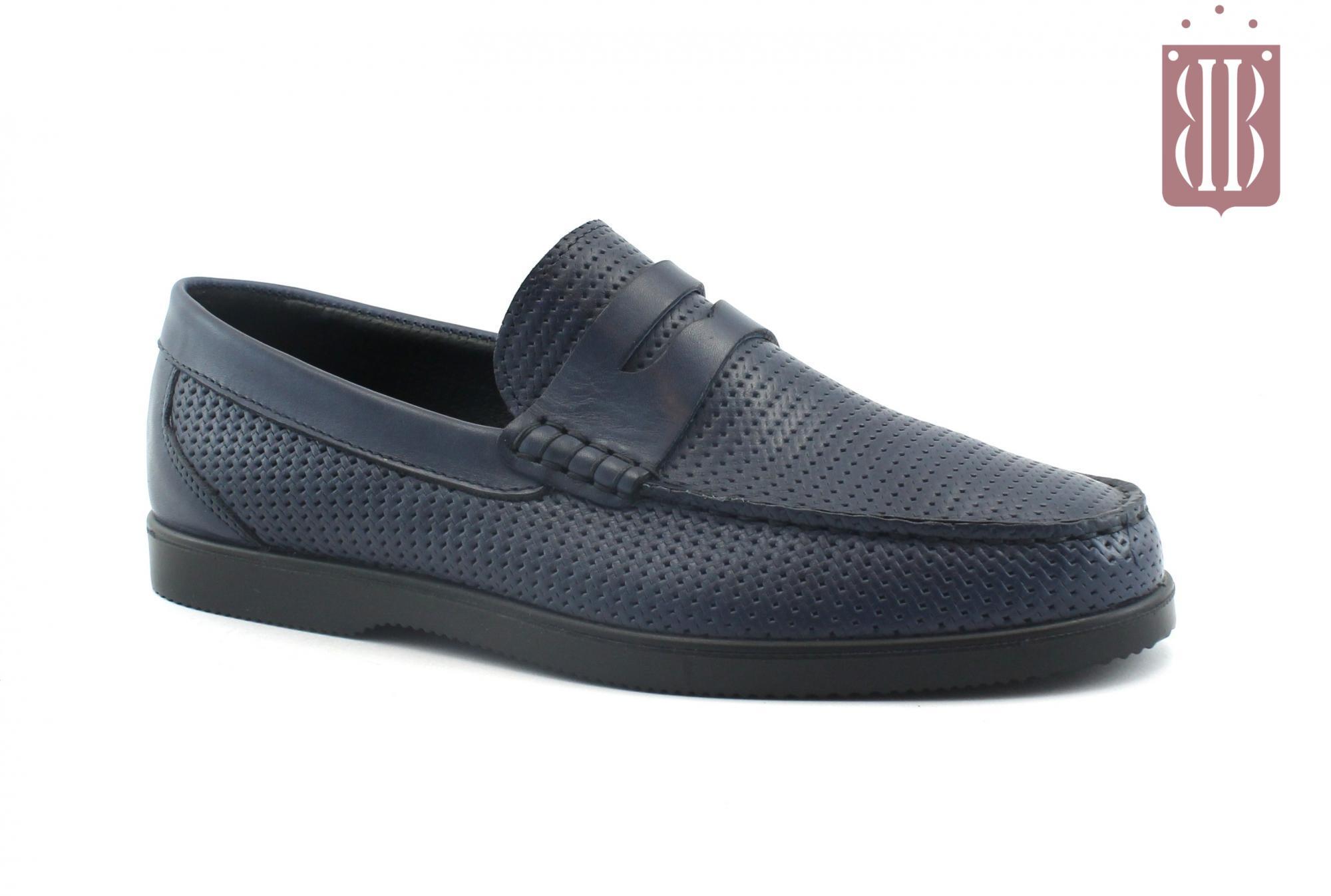c4bf59133 IGI&CO 3109511 blu scarpe uomo mocassini college pelle
