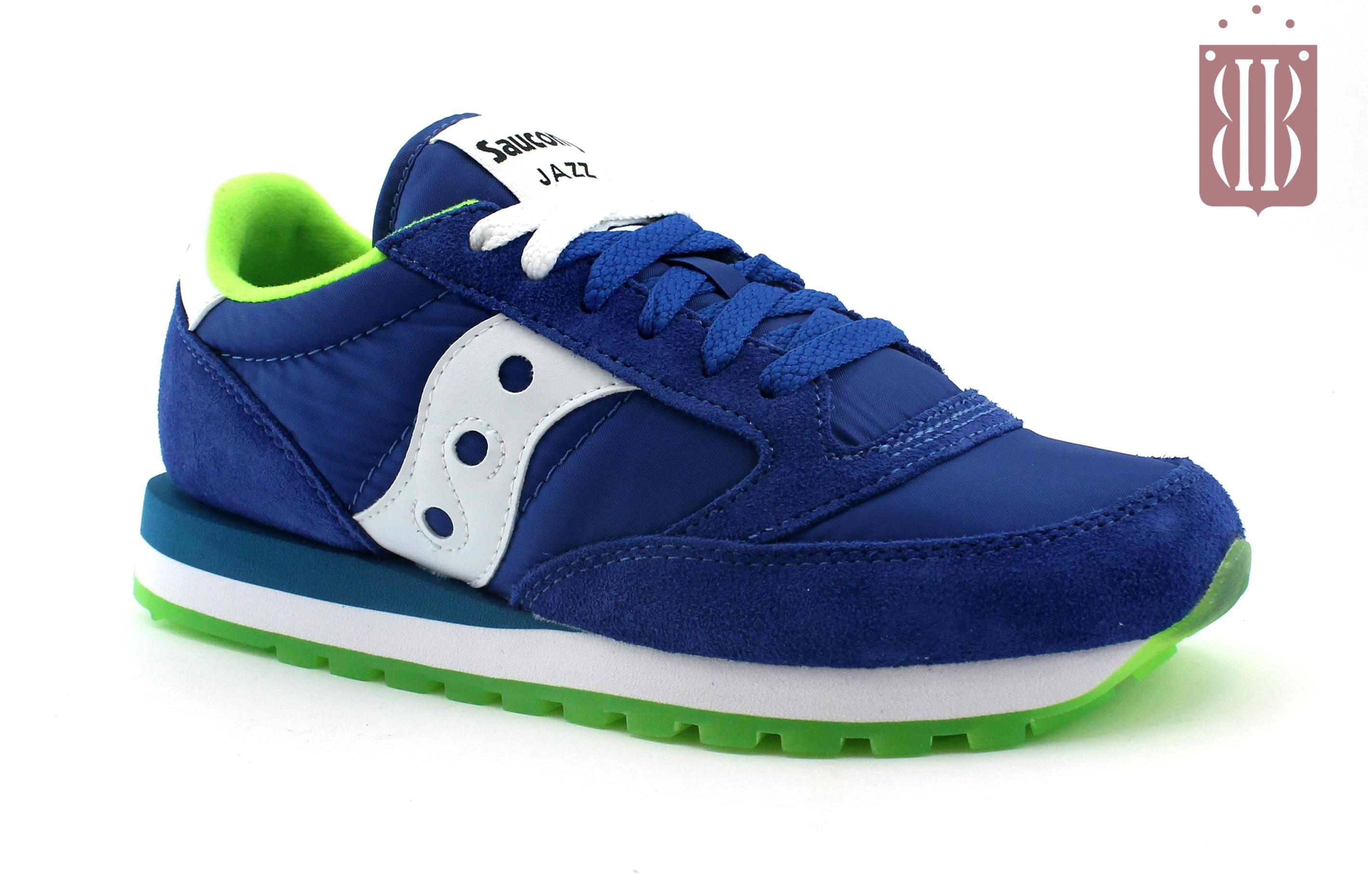 SAUCONY 2044 256 JAZZ ORIGINAL blu lime scarpe uomo sneakers lacci