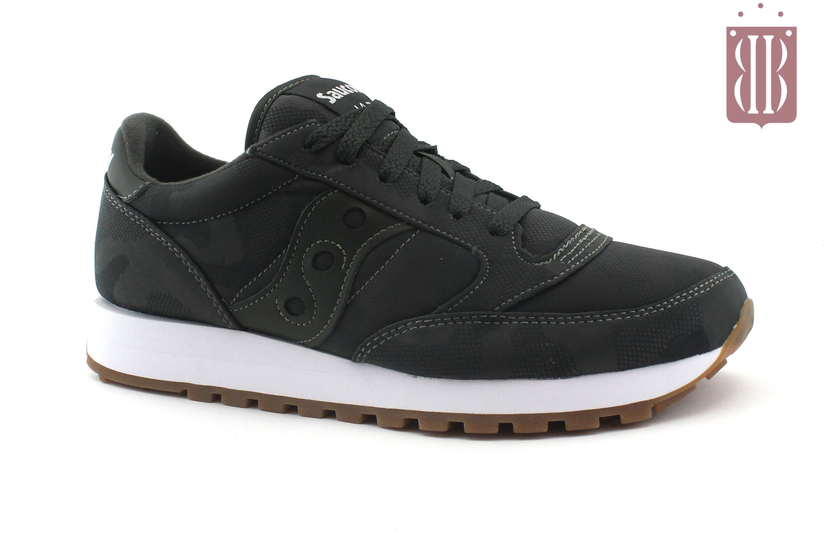 SAUCONY S60445 5 JAZZ ORIGINAL CAMO grigio verde scarpe donna sneakers lacci