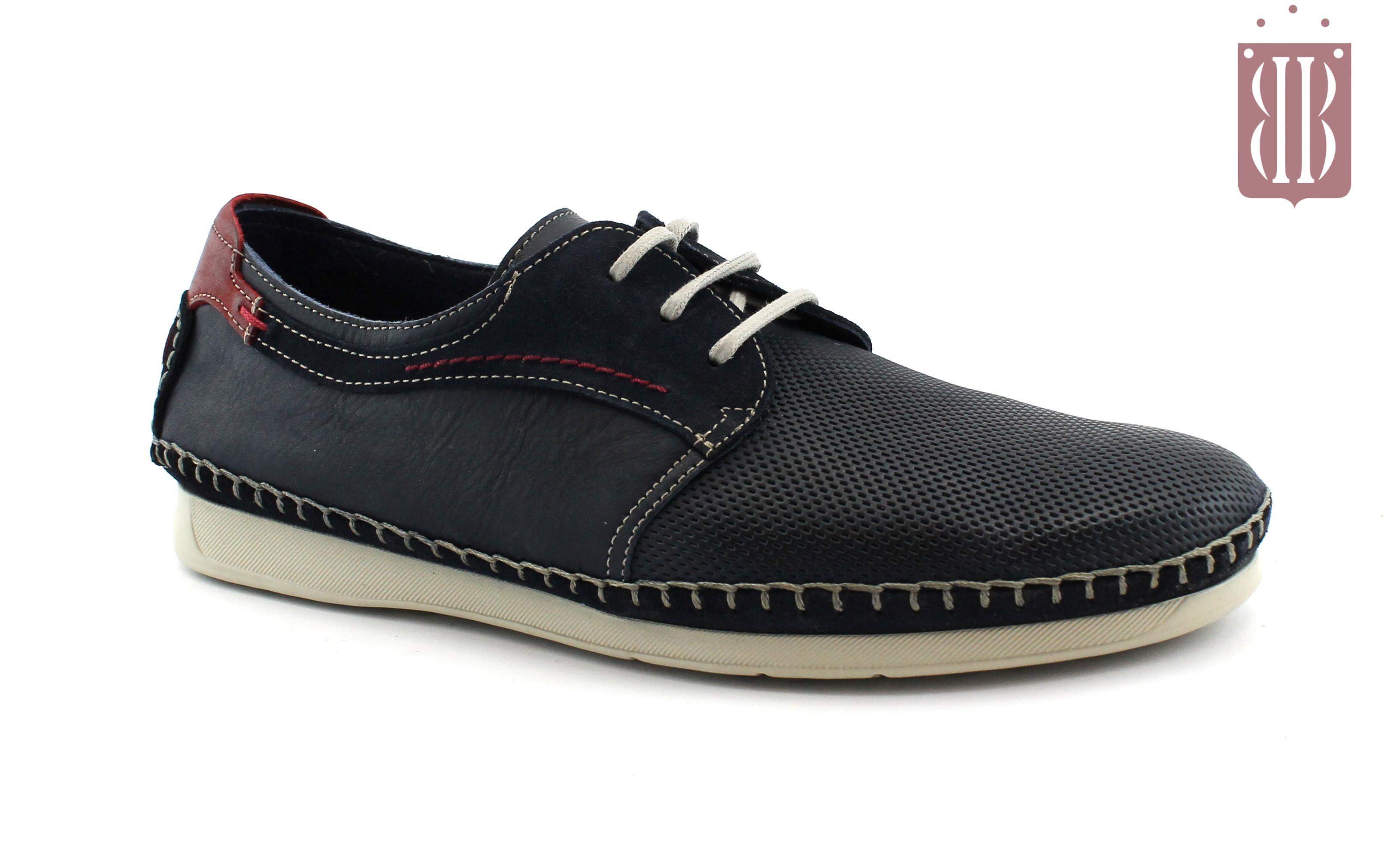 ad727368 FLUCHOS F0199 ocean blu scarpe uomo sneakers pelle lacci forata light