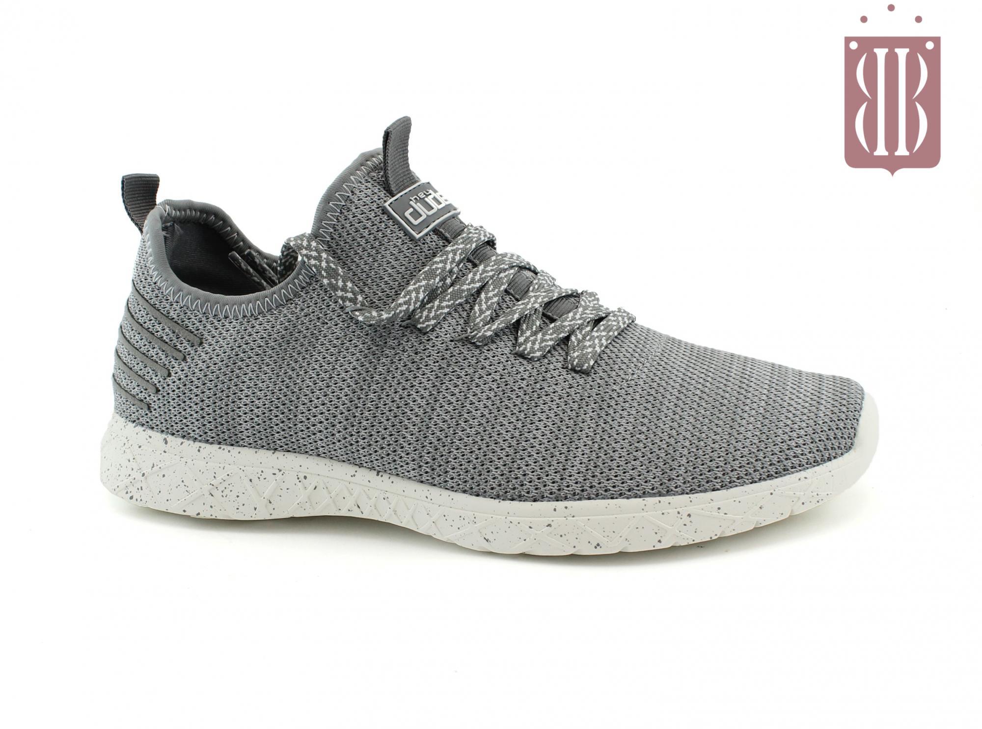 HEY DUDE LEVANTE knit steel scarpe uomo sneakers riciclate slip on lacci
