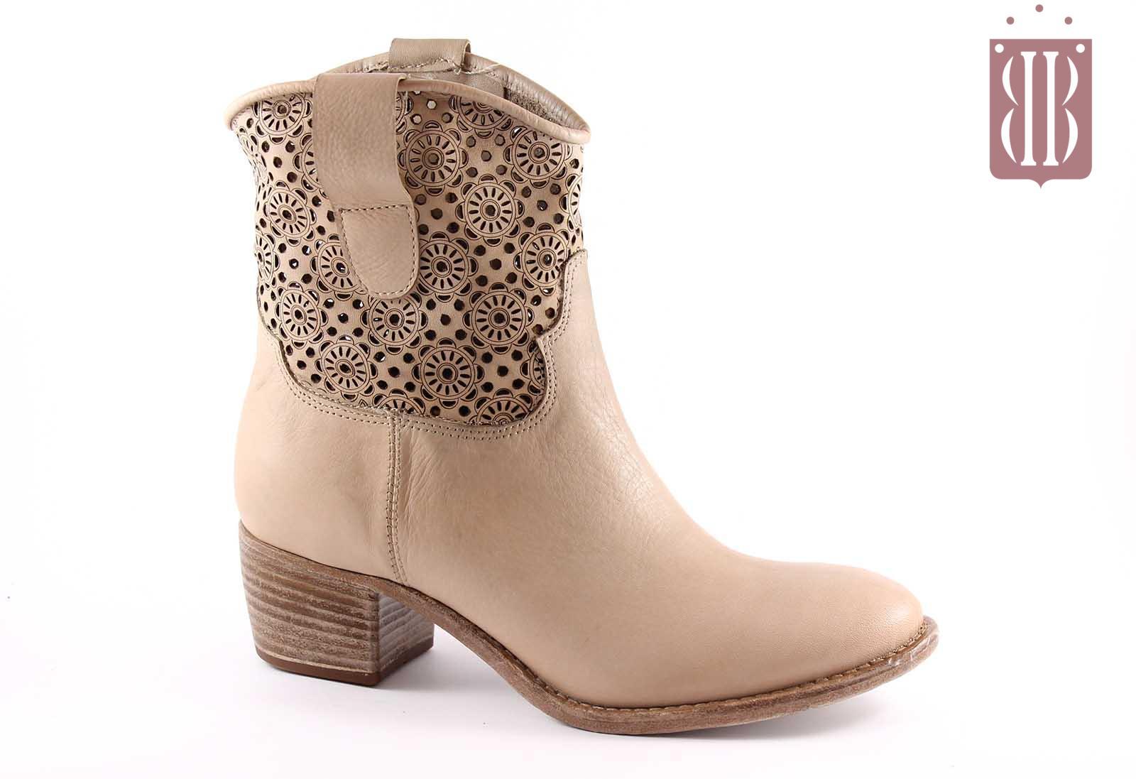 sports shoes aadce bab5a PROGETTO L321 avorio scarpe donna stivaletti zip ricamato